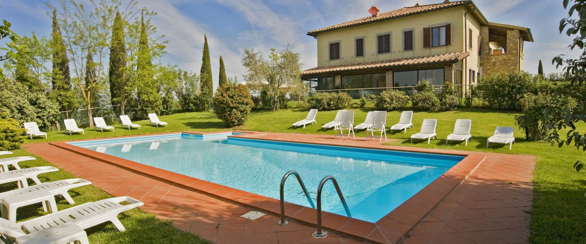 Swimming Pool The Il Poggio Farmhouse and Resort in Siena